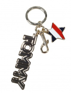 Tommy Hilfiger Damen Schlüsselanhänger Anhänger Keyfob Tommy Logo Gold
