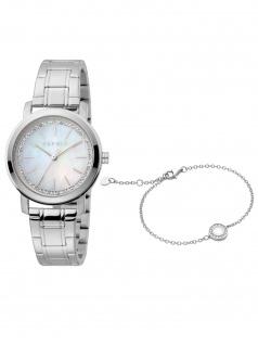 Esprit ES1L188M1035 Klara Silver Set Uhr mit Armband Damenuhr silber