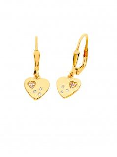 Prinzessin Lillifee 2029679 Mädchen Ohrringe Herz Gold Rosa