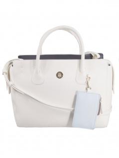 Tommy Hilfiger Damen Handtasche Tasche Charming Tommy Satchel Weiß