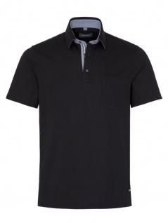 Eterna Herren Polo Shirt Kurzarm Comfort Fit Piqué Schwarz XL/44