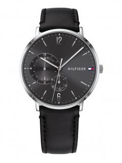 Tommy Hilfiger 1791509 BROKN Uhr Herrenuhr Lederarmband Datum Schwarz