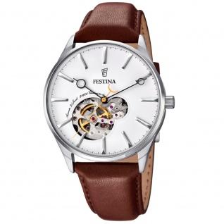 FESTINA F6846/1 Automatic Uhr Herrenuhr Lederarmband braun