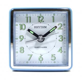 RHYTHM CRE210NR04 Wecker Alarm weiß blau