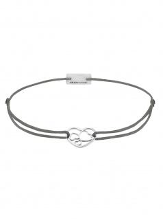 MOMENTOSS 21202023 Damen Armband Filo Herzen Silber dunkelgrau 19 cm - Vorschau