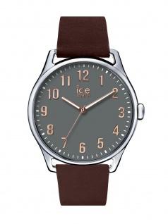 Ice-Watch 013046 Ice time Brown Stone Large Uhr Lederarmband Braun