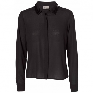 Vero Moda Damen Bluse Blusenshirt PAM LS Top Schwarz Gr. XS
