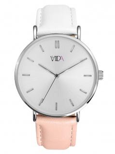 laVIIDA WVI2026S Vienna Uhr Damenuhr Lederarmband Rosa