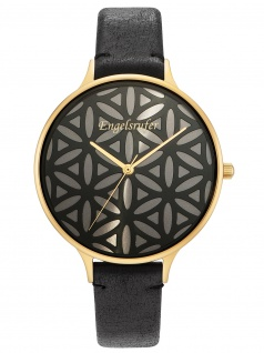 Engelsrufer ERWA-LIFL-LBK1-LG Uhr Damenuhr Lederarmband schwarz