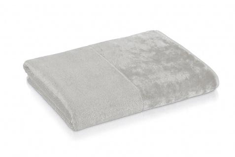 Möve Bamboo Luxe Waschhandschuh 15x20 cm silver grey