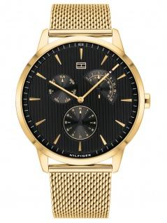 Tommy Hilfiger 1710386 BRAD Uhr Herrenuhr Edelstahl Datum Gold