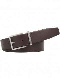 Calvin Klein Herren Gürtel Casual Adj Belt Leder 80cm Braun