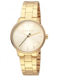 Esprit ES1L154M0065 Everday Chammpagne Uhr Damenuhr Edelstahl gold