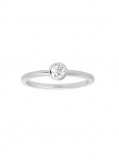 XENOX XS7279-54 Damen Ring Silver Circle Silber Weiß 54 (17.2)