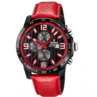 Festina F20339/5 Chronograph Uhr Herrenuhr Chrono Datum Rot