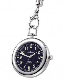 Dugena 4149874-1 Taschenuhr mit Kordel und Tasche Uhr schwarz