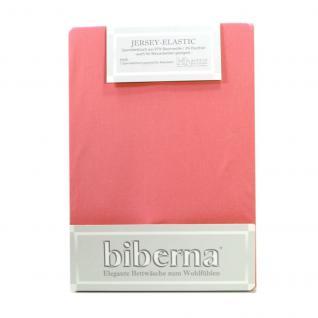 Biberna 77866 Jersey Elastic Spannbetttuch Azalee Rosa 90x190 100x220