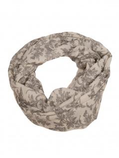 Esprit Damen Loop Schal Printed Infinity Polyester 168cm Grau