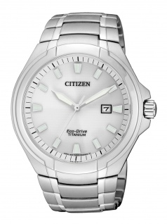 Citizen BM7430-89A Uhr Herrenuhr Titan Datum Silber