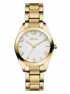 s.Oliver SO-3050-MQ Uhr Damenuhr Edelstahl Gold