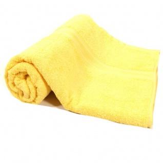 Duschtuch Gelb Frottee Baumwolle 500g/m2 Handtuch 70 x 140 cm