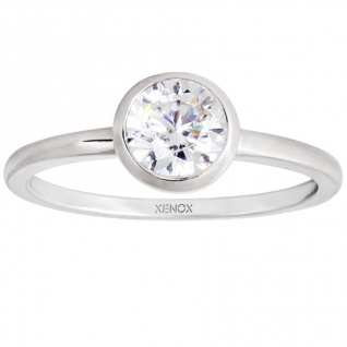 XENOX XS7280 Damen Ring Silver Circle Silber weiß 54 (17.2)