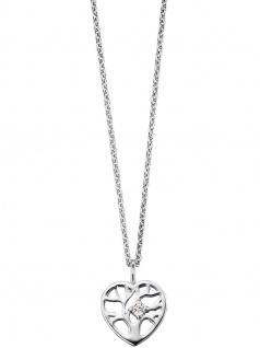 Herzengel HEN-TREE-ZI Mädchen Collier Herz Baum Silber 41, 5 cm
