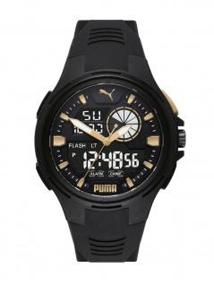 Puma P5063 BOLD ANALOG-DIGITAL Uhr Herrenuhr Datum Alarm schwarz