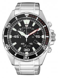 Citizen AT2430-80E Chronograph Uhr Herrenuhr Edelstahl Datum Silber