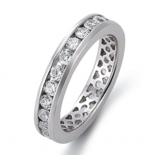 gooix 943-03140-52 Damen Ring Silber Weiß 52 (16.6)