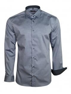 Eterna Herren Hemd Langarm Slim Fit Hemden 8888/32/F140 Grau L/41 - Vorschau 2