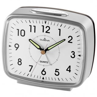 DUGENA 4460608 Wecker Alarm Analog schwarz silber