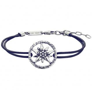 Julie Julsen® JJBR10292.11 Damen Armband Edelweiß Silber Blau 20, 5 cm
