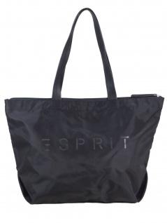 Esprit Damen Handtasche Tasche Shopper Cleo Shopper Schwarz