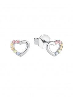 Prinzessin Lillifee 2024376 Mädchen Ohrstecker Herz Silber Rosa