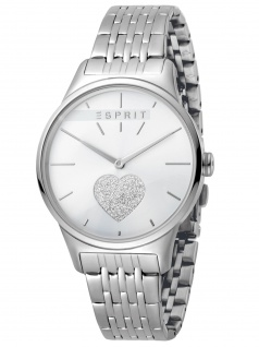 Esprit ES1L026M0225 Love Silver MB. SET Uhr Damenuhr Edelstahl Silber