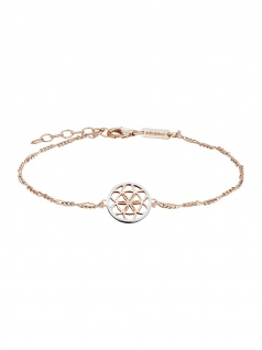 Julie Julsen Damen Armband Lebensblume Bicolor Rose Weiß 20 cm
