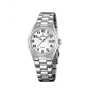 FESTINA F16375/9 KLASSIK Uhr Damenuhr Edelstahl Datum silber