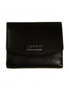 Esprit Damen Geldbörse Classic small city wallet Leder Schwarz