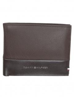 Tommy Hilfiger Herren Geldbörse Textured CC Flap Leder Braun