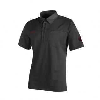 Mammut Herren Shirt Kurzarm Trovat Tour Polo Men Schwarz Poloshemd M