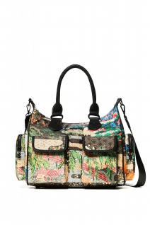 Desigual Damen Handtasche Tasche EXPLORER LONDON MED Mehrfarbig