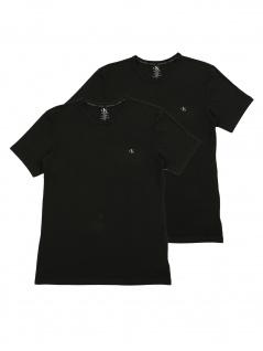 Calvin Klein Herren T-Shirt Kurzarm 2er Pack S/S Crew Neck Schwarz S