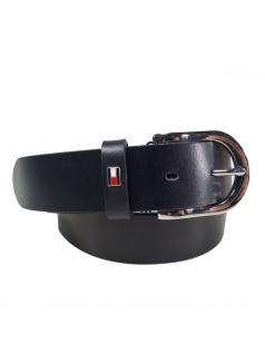 Tommy Hilfiger Damen Gürtel Jeansgürtel New Danny Belt Leder 95cm Blau
