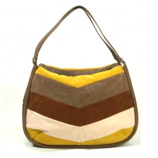 Esprit Fleur Fancy Shopper Braun Gelb Handtasche Tasche Shopper