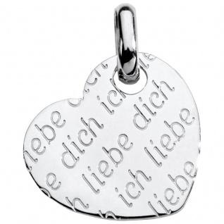 Basic Silber SL23 Damen Anhänger Herz Silber