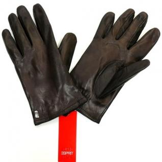 Esprit BASIC NAPPA Braun W15550-248 Handschuhe Lederhandschuhe Gr. 7, 5