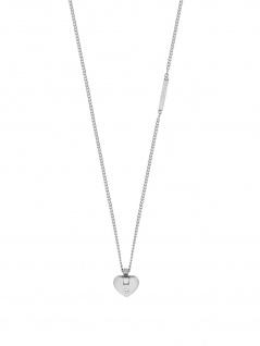 Esprit ESNL00552342 Damen Collier Herz Cheer Silber Weiß 45 cm