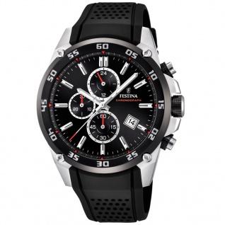 Festina F20330/5 Chronograph Uhr Silikon Chrono Datum Schwarz