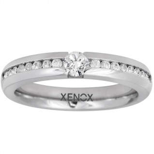 XENOX X5010-54 Damen Ring XENOX & friends Silber Weiß 54 (17.2)